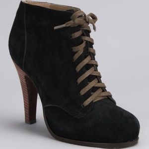 Restricted black Lynn suede booties 7